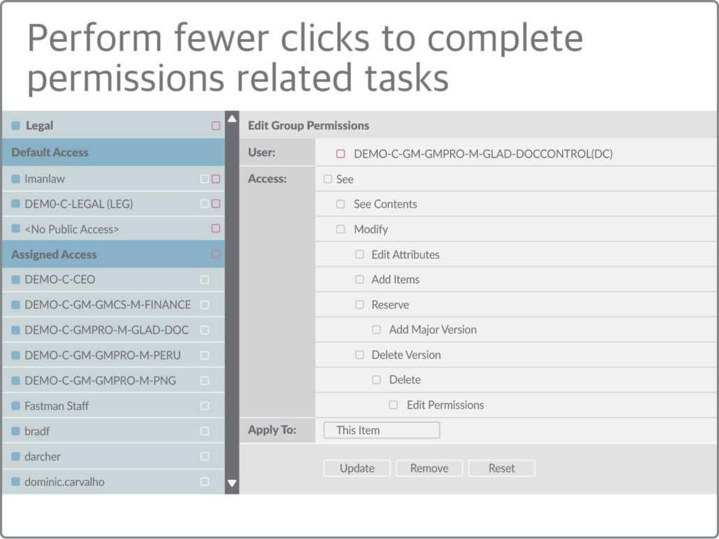 Comprehensive permissions management for SAP Extended ECM