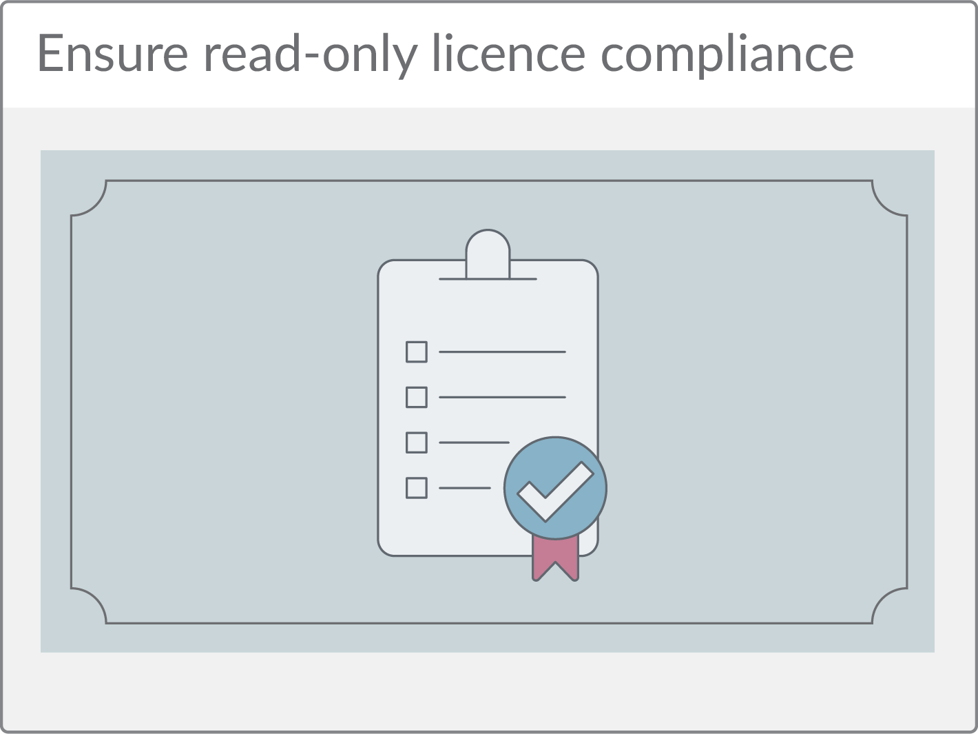 Ensure read-only licence compliance