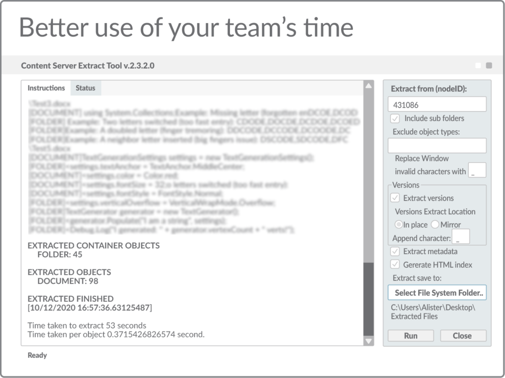 Better use of your team's time