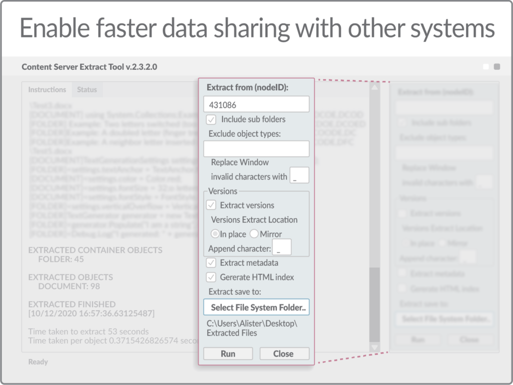 Enable faster data sharing with other systems