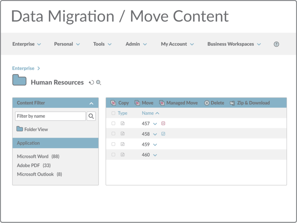 Data Migration / Move Content