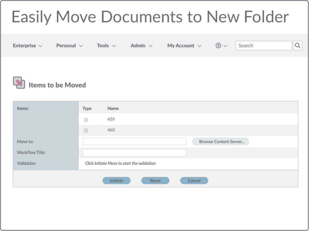 Easily move documents to new folder