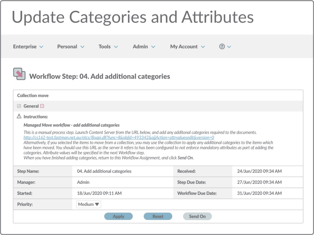 Update categories and attributes