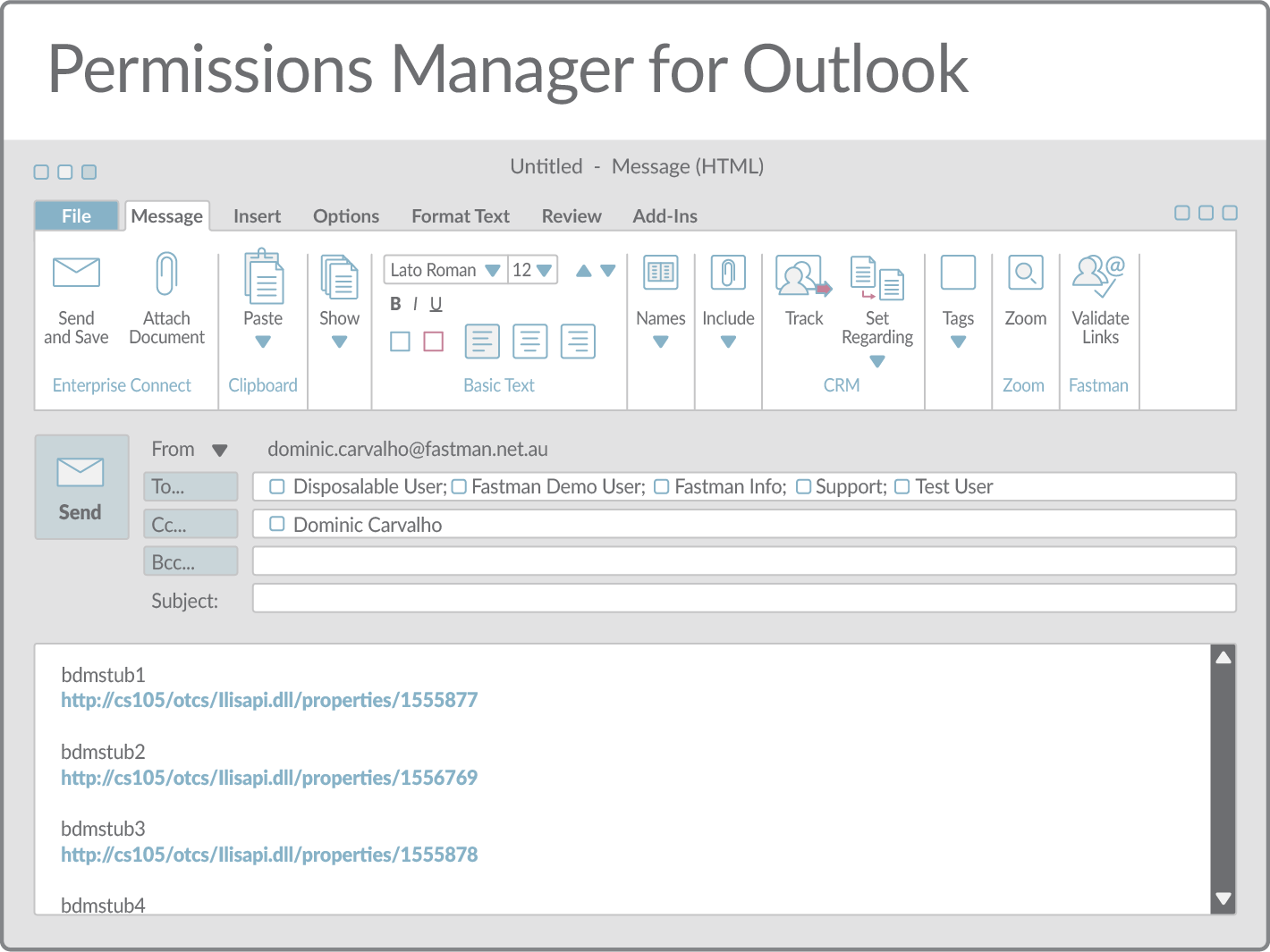 Permissions Manager for Outlook